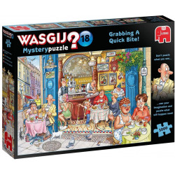Jumbo 19179 Wasgij Mystery 18 - Grabbing a Quick Bite 1000 piece Jigsaw Puzzle