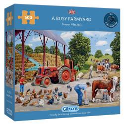 Busy Farmyard 500 Piece Jigsaw Puzzle