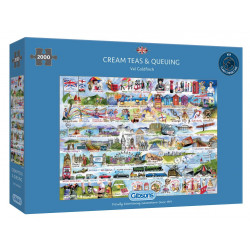 Cream Teas and Queuing 2000 Piece Jigsaw Puzzle