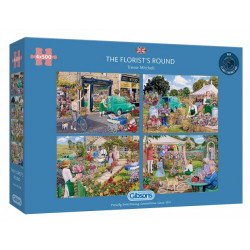 Gibsons Jigsaw Puzzle The Florist's Round 4 x 500 Pieces